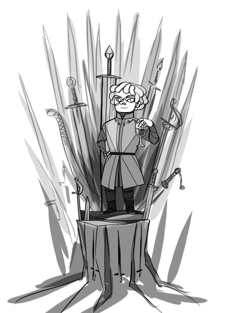 Puttefnask på obekväm tron.